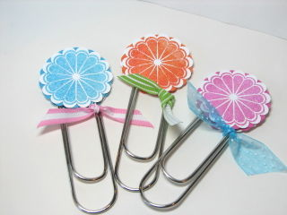 Flower bookmarks