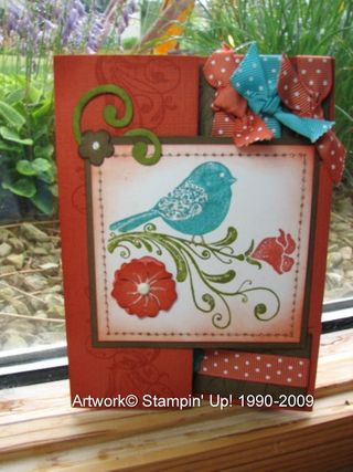 Wow bird card