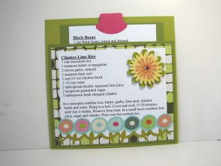 Rice and beans recipe card
