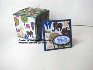 Kathleenh-origami box with matching card