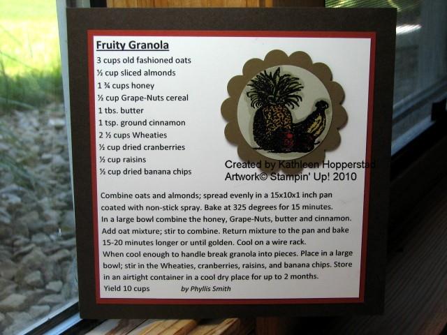 Kathleenh-fruity granola