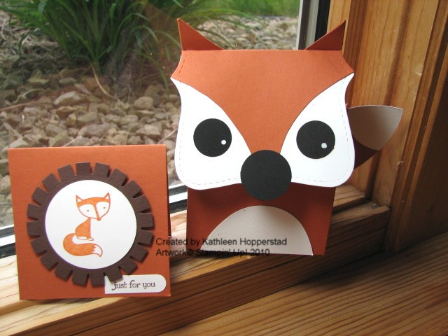 My Happy Stamping Place Fox Box And Card