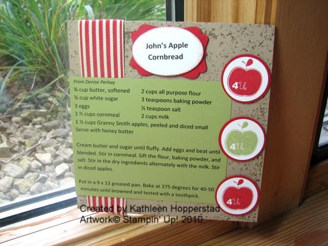 John's apple cornbread