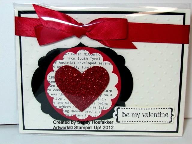 Valentine card-sandy hoefakker