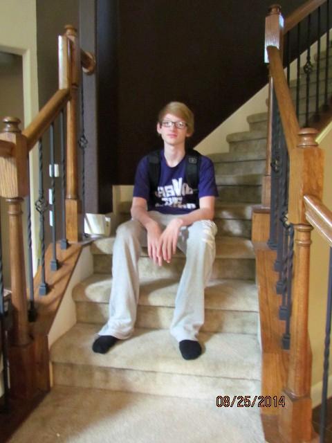 Sam's 1st day of 9th grade
