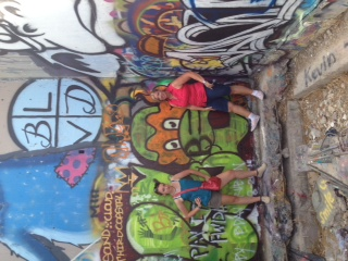 Graffiti park-mom and becca-1