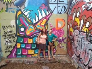 Graffiti park-mom and becca