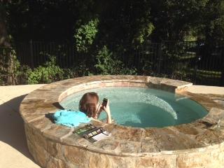 Becca in pool